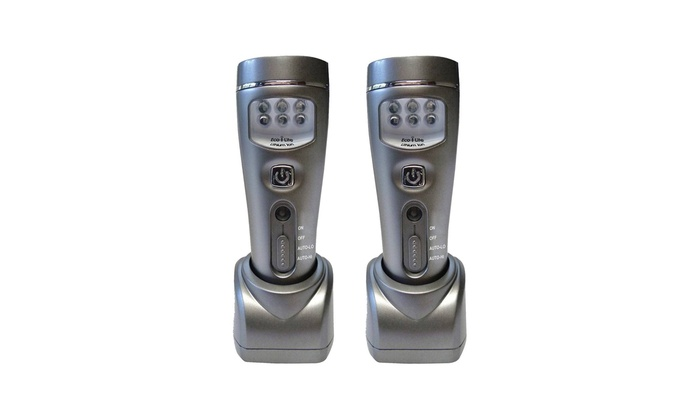 2-Pack 4 LED Rechargeable Plug-In Emergency Ready Flashlight