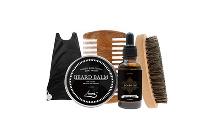 beard grooming trimming kit for men care shaping growth gift set groupon. Black Bedroom Furniture Sets. Home Design Ideas