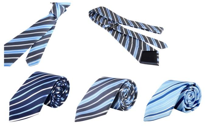 Zodaca Striped Business Wedding Twill Necktie Mens Tie