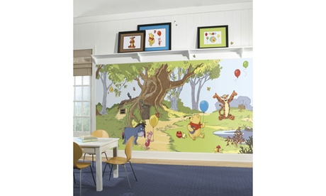 Roommates Pooh And Friends Chair Rail Prepasted Mural 2beecf31-5ae1-4c09-ab7c-ac740ba1ef40