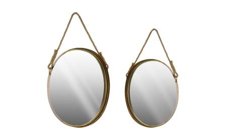 Urban Trends Collection Home Decor Metal Oval Wall Mirror 3f25830f-3e94-4234-b945-b20da4007a81