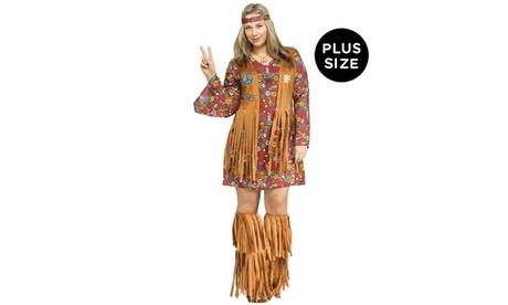 Peace and Love Hippie Plus Adult Costume 03b7dae6-7bdd-4b19-9e92-64c28939c7ef