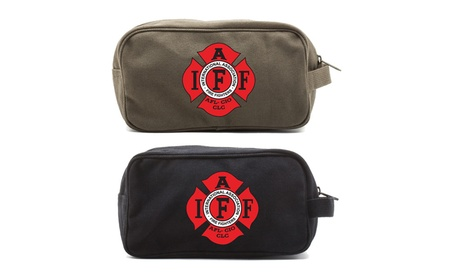 IAFF International Association of Fire Fighters Canvas Toiletry Bag