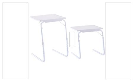2 x Table Adjustable PC TV Laptop Desk Tray Home Office s/ Cup Holder e4c739c9-20a6-468e-a194-6cf18d7b073e