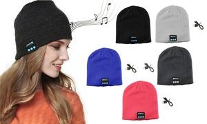 Wireless Bluetooth Beanie Knit Hat Headset Earphone Music Speaker Cap