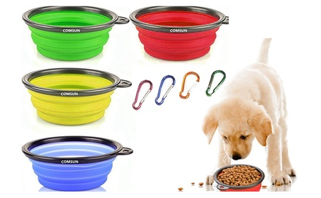 Collapsible Pet Feeding Portable Bowl Set - Expandable Cup Dish dd3893f6-a4b4-47e9-bf1c-2524b7ade7f7