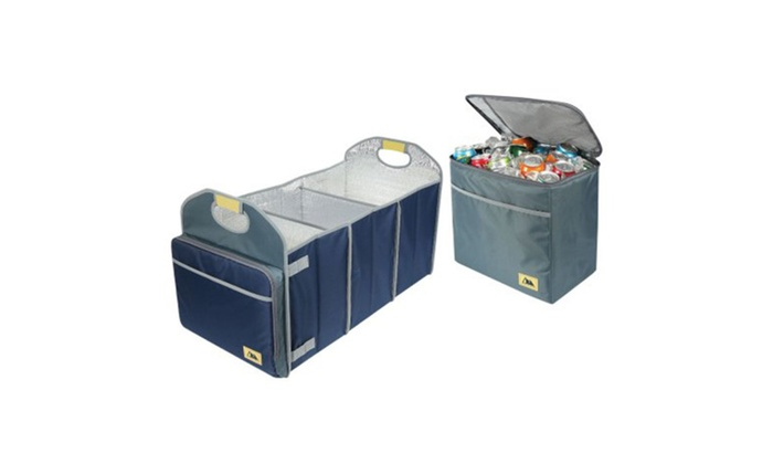 Arctic Zone Trunk Organizer and Insulated Cooler Set, Navy