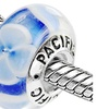 Sterling Silver 'Lapis of Luxury' Murano-style Glass Bead