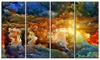 What Colors May Come Abstract Metal Wall Art 48x28 4 Panels