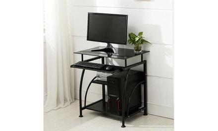 Exquisite Integrated Stalinite Computer Desk 307B Black