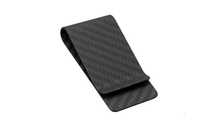 Carbon Fiber Money Clip Credit Card Business Card Holder