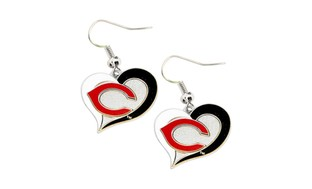 MLB Sports Team Swirl Heart Earring