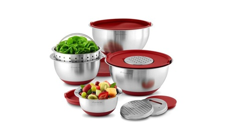Wolfgang Puck Stainless-Steel Mixing Bowls with Lids 64247219-016e-48ac-8a2e-3ab9efd78a72
