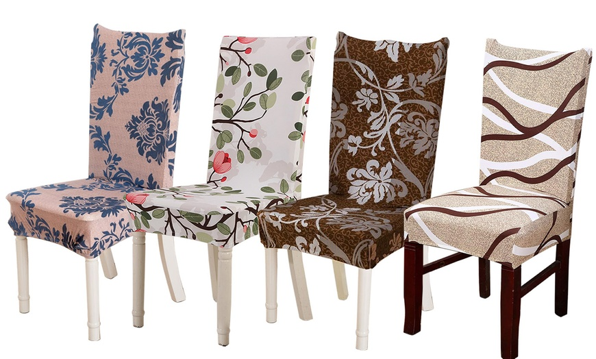 6 Pack Soft Stretch Dining, Stretch Seat Covers For Dining Room Chairs