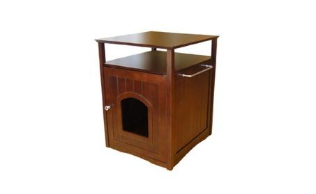 Merry Products MPS008 Cat Washroom - Night Stand Pet House - Walnut 9d753a81-dd7c-480e-aff6-2ef715cdb350