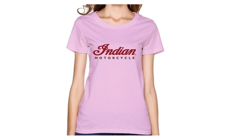 Gosts Indian Motorcycle Logo Pink T Shirt For Women 2b5d6971-af27-41cd-b66e-649e3737dad3