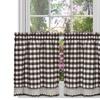 "Buffalo Check Kitchen Curtain Tier Pair - 24"" x 58"""