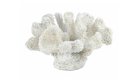 Little Bit Oceanfront Style White Coral Decor Statue (Goods For The Home Outdoor Décor Sculptures & Statues) photo