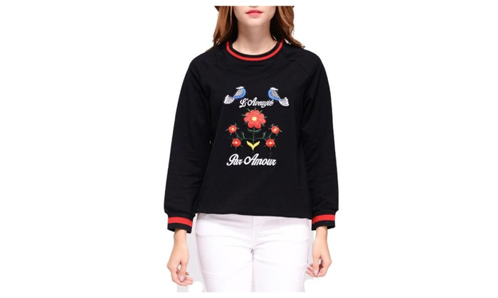 Women's Regular Fit Fashion Printed Long Sleeve Pullovers