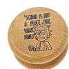 Rick and Morty Rick Smart Face 2.15 Inches Wooden Herb Cnc Grinder