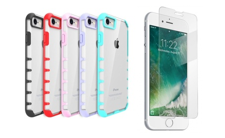 iPhone Trendy Case for iPhone 7/7Plus/8/8Plus With Free Tempered Glass fb8d2980-5389-4554-96ea-1d12372d2d48