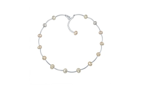 Bling Jewelry Freshwater Cultured Pearl Tin Cup Station Necklace 8c9f65b1-0c53-414a-997f-21578f96b54d