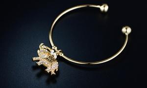 Crystal Elephant Charm Made with Swarovski Elements By Barzel