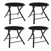 "18"" Premium Lightweight Black Folding Cushioned Stool Chair (4 Pack)"