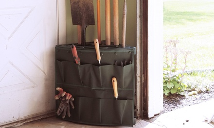 Stalwart Corner Storage Tool Rack Tower with Removable Storage Pouch