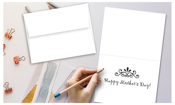 Up to 15 off on 5 x 7 blank white greeting groupon goods 5 x 7 blank white greeting card sets 50 cards envelopes m4hsunfo