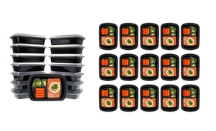 30-Pc. Meal Prep 1 Compartment Lunch Box Containers with Lids