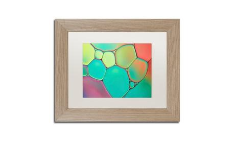 Cora Niele 'Stained Glass III' Matted Birch Framed Art 11ea23e6-14b2-4428-afc6-e943a96e3173