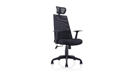 Meshed Ergo Office Chair with Headrest (Black) 5fe597f4-3faf-4fe9-bcf6-be3fc5ed4b7e