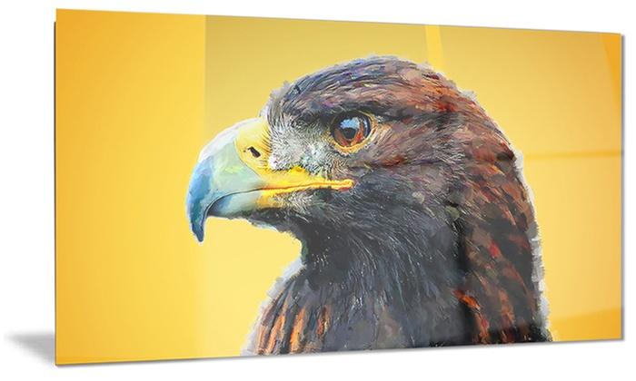 Golden Eagle Animal Metal Wall Art 28x12