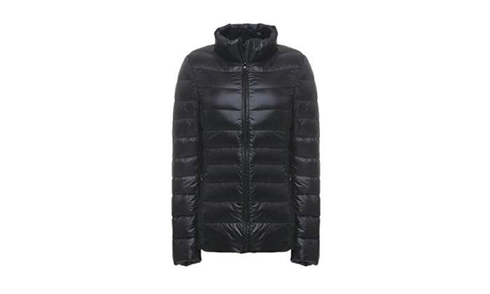 Women's Winter Packable Ultra Lightweight Short Down Jacket