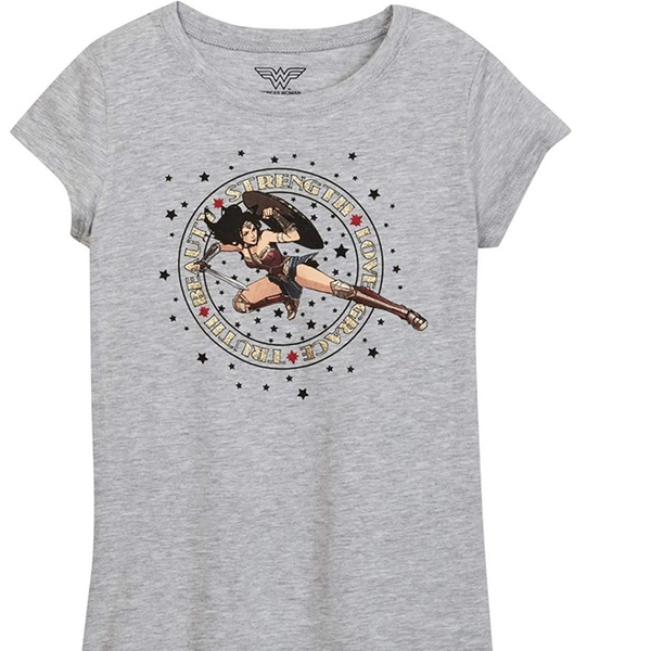 cb76caf6 Up To 50% Off on DC Comics Girls T-Shirt Super... | Groupon Goods