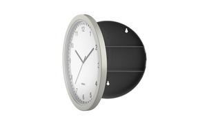 "10"" Wall Clock with Hidden Safe"