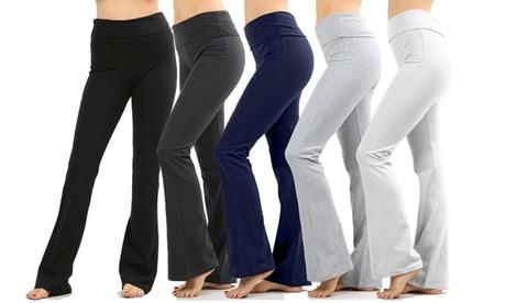 Women's 3-Pack Fold-Over Flared Pant's Regular & Plus Sizes b134fe3f-45b9-4c8d-9827-574cc457a240