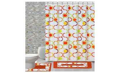 Shop Groupon 15 Piece Shower Curtain Set