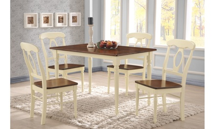 Napoleon French Country Cottage Buttermilk and Cherry 5-piece Dining Set