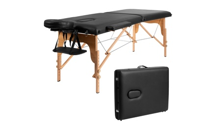 84''L Portable Massage Table Adjustable Facial Spa Bed Tattoo w/ Carry Case