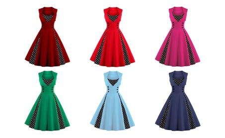Sleeveless Slim Fit Button Detail Dress 32ad9119-c8b7-4fa0-9fe4-142703297fb0