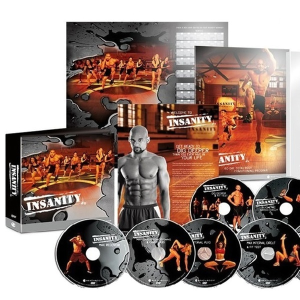 Insanity 60 Day Fitness Workout Deluxe Kit Complete 13 Dvd Set