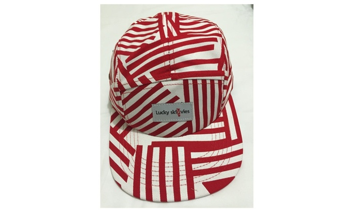 5 Panel Hat - Candy Cane / One size fits all / 5 Panel Hat