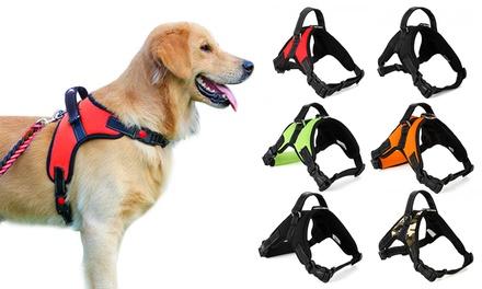 Dog Vest Pet Collar Soft Adjustable Harness Pet No-Pull Hand Strap
