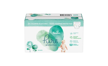Pampers Pure Protection Diapers Size 4 - 108ct ( 22-37 lbs) photo