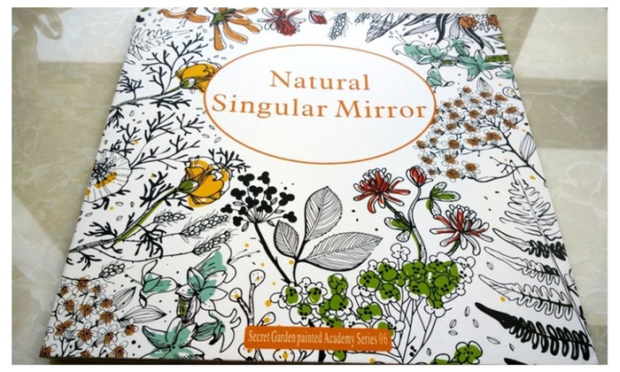 Natural Singular Mirror And Fantasy Dream Adult Coloring Book