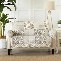 Stain-Resistant Patchwork-Style Scalloped Printed Slipcovers