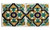 Artesanos Imports Co. - Casa Alegre: 90-Pieces Box Set Hand Painted Clay Talavera Tile