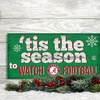 NCAA Holiday Watch Football Sign
